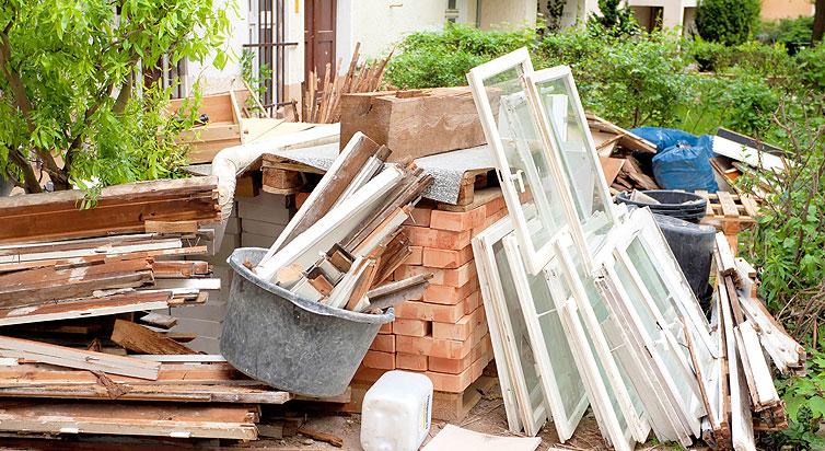 Baustellenabfall entsorgen in Hamburg