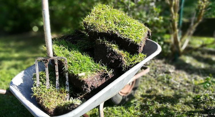 Lieblings Mutterboden mit Grassode entsorgen | Hamburger Containerservice #PN_92
